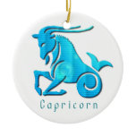 Capricorn Zodiac Orament Ceramic Ornament