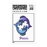 Pisces Fish Postage Stamp