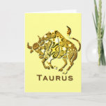 Taurus Zodiac Greeting Card